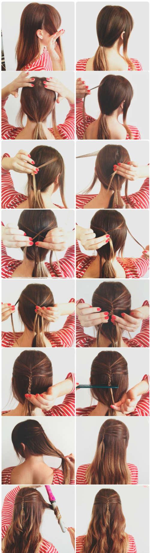 Как сделать прическу легкую на распущенные волосы