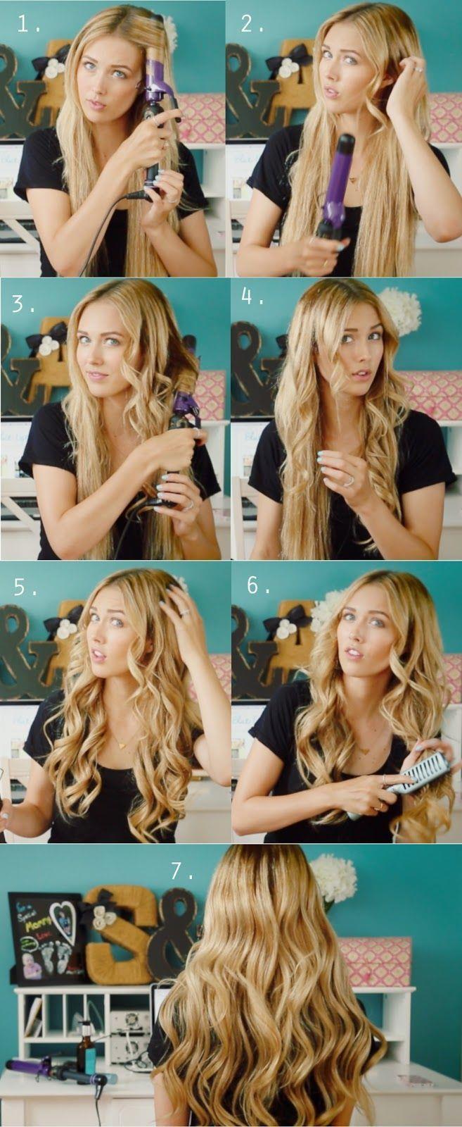 Красивая прическа на средние волосы с помощью плойки
