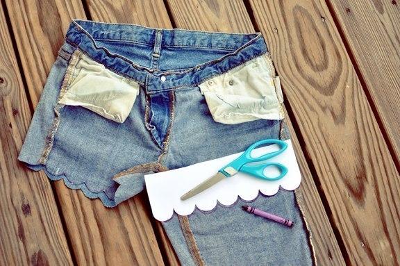 Шорты своими руками из старых джинс