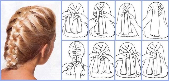 Легкие плетение косичек