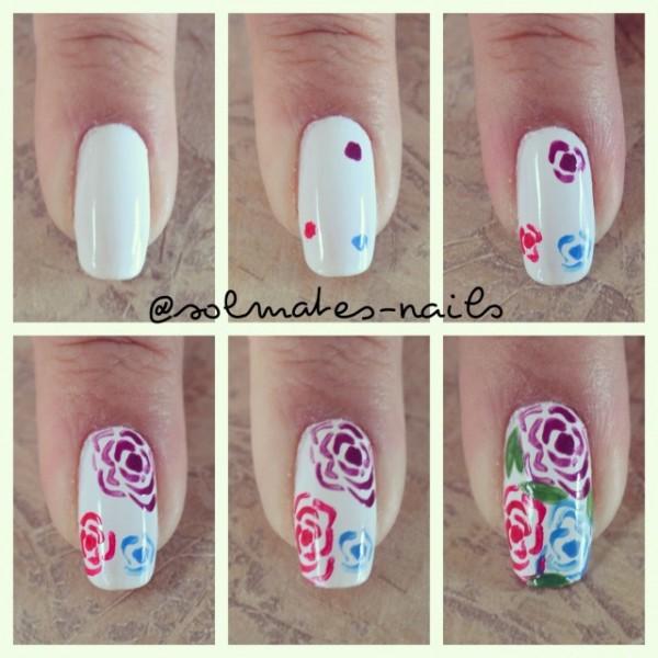 Как сделать цветок на ногтях в домашних условиях