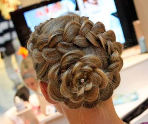 Прически длинных волос косы