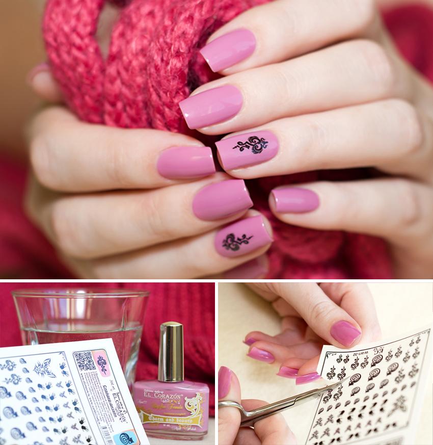 Дизайн ногтей наклейками в домашних условиях