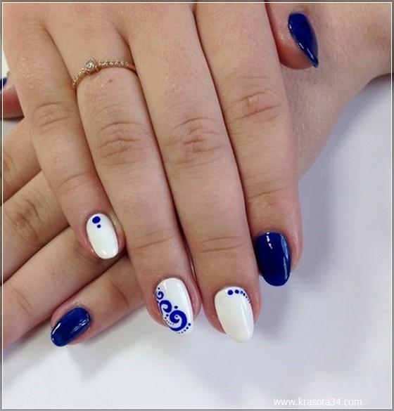 Гель лак на овальных ногтях