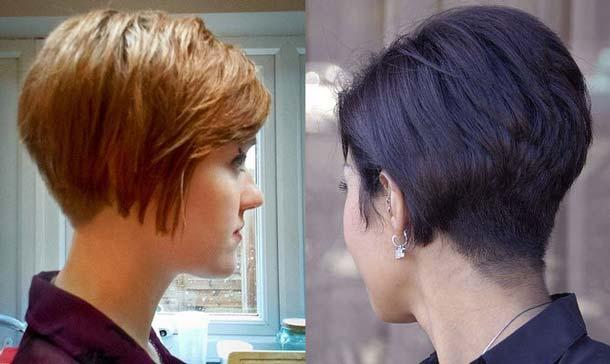 Причёска каре на ножке фото на короткие волосы вид сзади