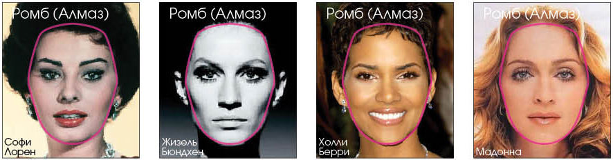 форма лица бриллиант прически фото