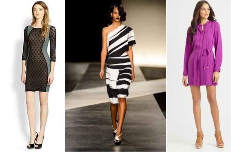 Модные платья для стройных женщин