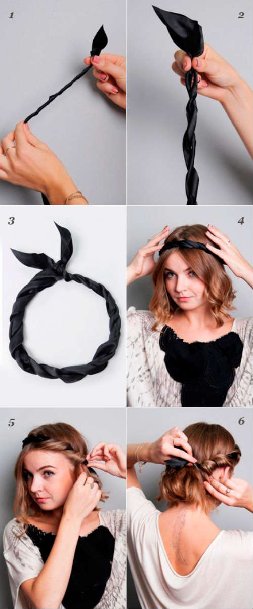 Греческие прически на длинные волосы своими руками с повязкой