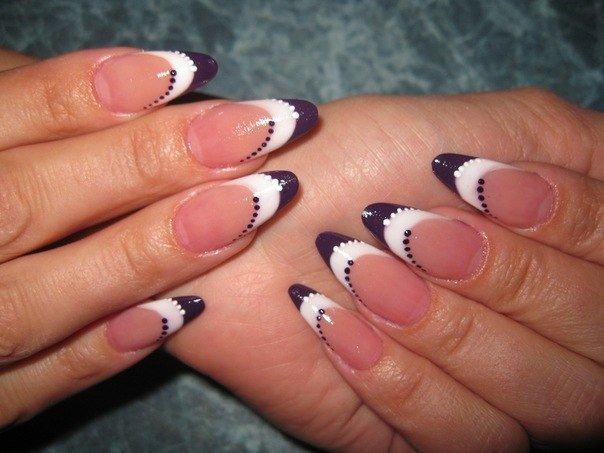Маникюр фото нарощенных ногтей