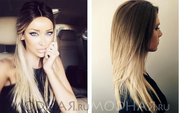 Самые модные окраска волос