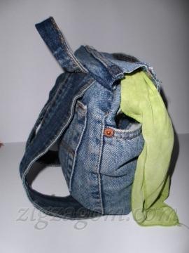 c71a0481c64a 2. Джинсовый рюкзак с использованием кромок
