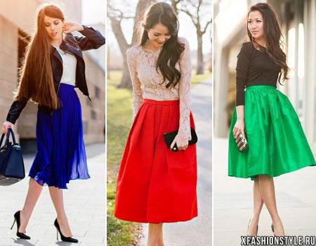 Красная юбка синяя блузка в спб