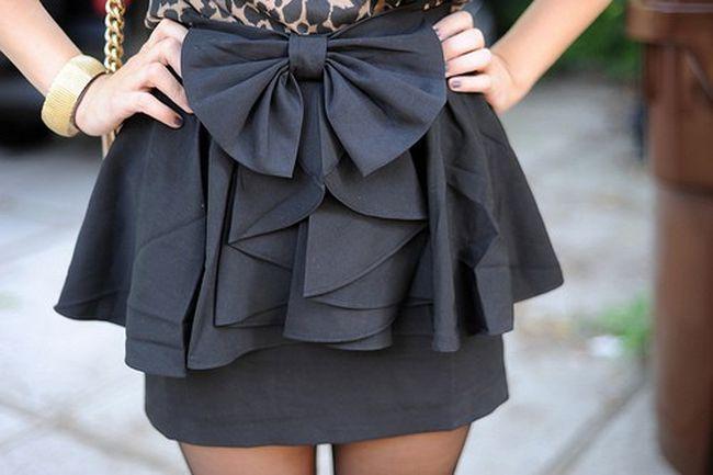 Как сделать бант на юбку